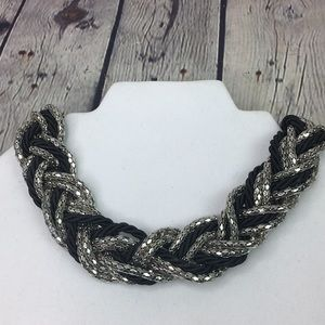 Express Chunky Braided Statement Necklace